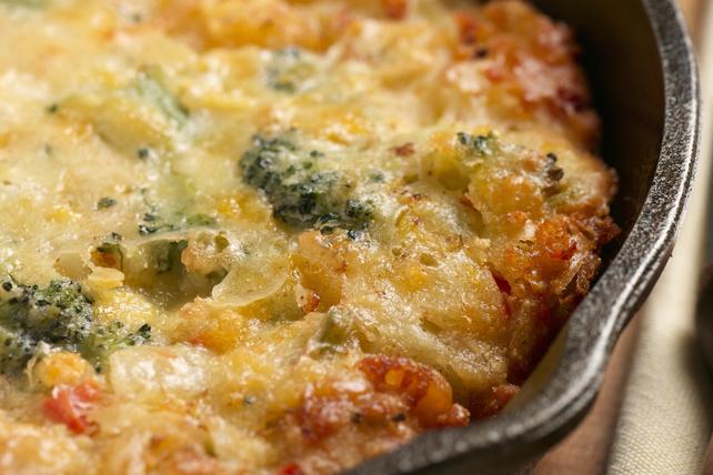 Pain de maïs au fromage et au brocoli cuit à la poêle Image 1