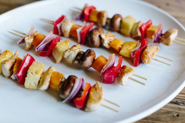 Brochettes de poulet tropicales épicées Image 1