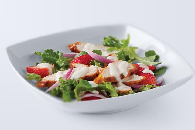 BBQ Chicken & Fresh Strawberry Salad Image 1