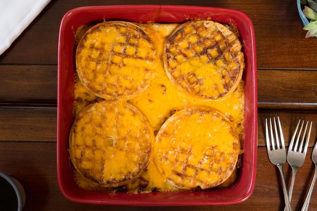 Maple-Bacon Waffle Bake Image 1