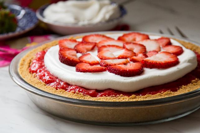 Tarte crémeuse aux fraises toute simple  Image 1