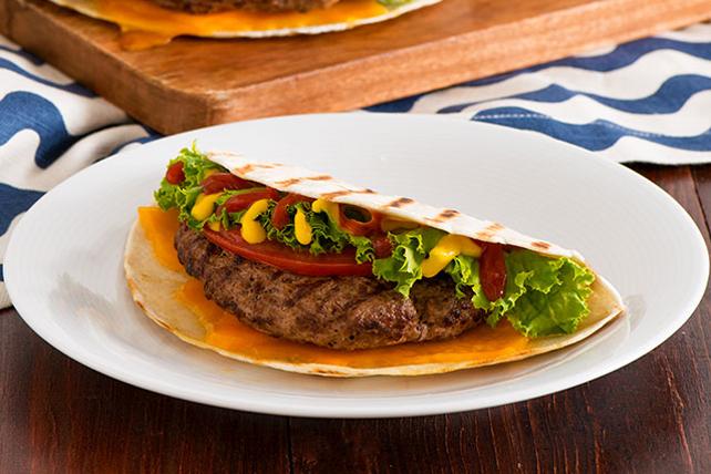 Quesadillas grillées au burger au fromage Image 1