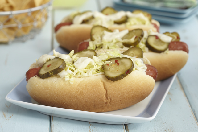 Wasabi-and-Napa Cabbage Hot Dog Image 1