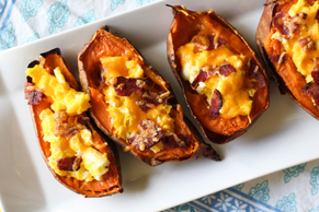 Egg-Stuffed Sweet Potatoes