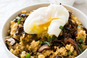 Poached Egg Mushroom Risotto