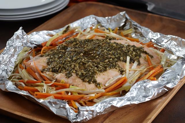 Saumon au pesto cuit au four Image 1