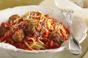 Italian Parmigiano Meatballs with Spaghetti
