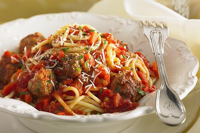 Italian Parmigiano Meatballs with Spaghetti Image 1