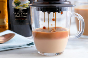AeroPress® Brewed GEVALIA Coffee with BAILEYS