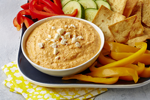 Spicy Roasted Red Pepper & Feta Dip