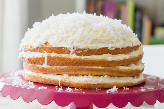 Torte au chocolat blanc et à la noix de coco Image 1
