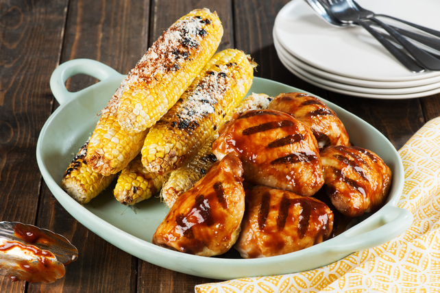 BBQ Chicken Thighs with Spicy Charred Corn Image 1