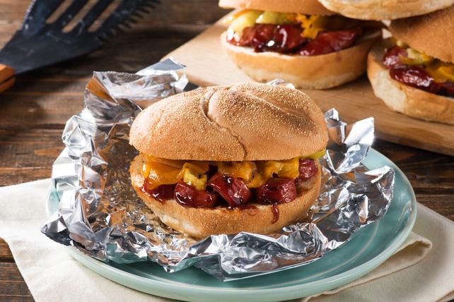 Sandwichs grillés à la saucisse et au fromage Image 1
