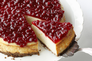 Festive Cranberry-Orange Cheesecake