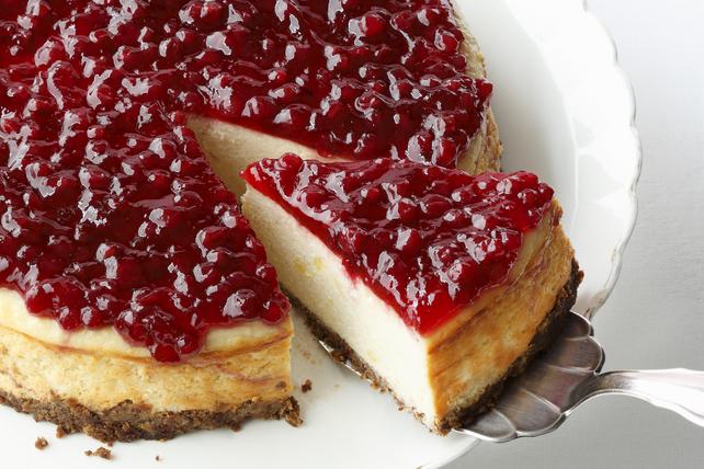 Festive Cranberry-Orange Cheesecake Image 1