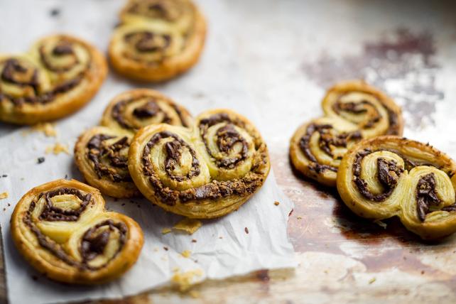 Biscuits de pâte feuilletée «oreille d'éléphant» au chocolat Image 1