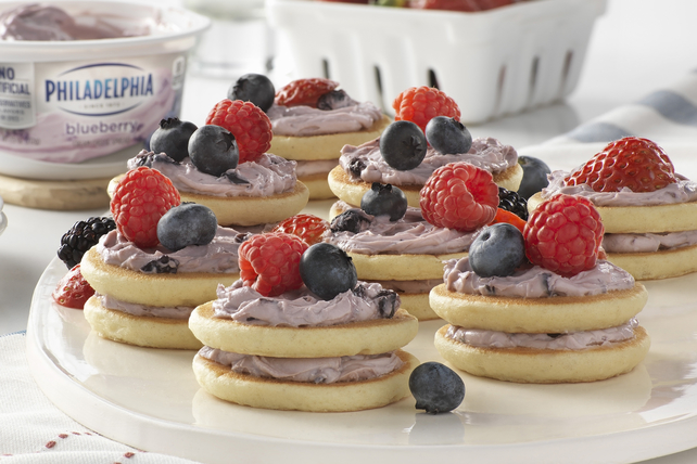 Mixed Berry-Mini Pancake Stacks Image 1