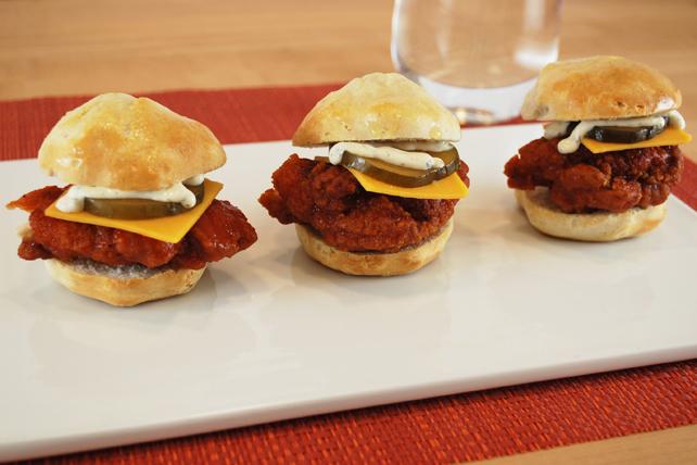 Mini-burgers au poulet à la mode de Nashville