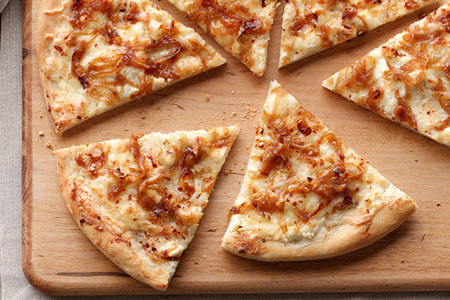 Pizza blanche et dorée Image 1