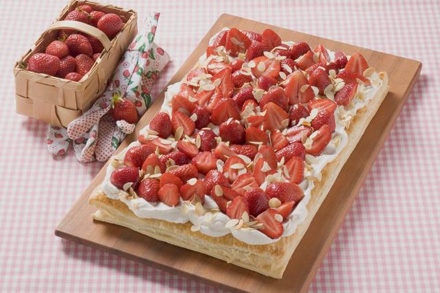 Puff Pastry Strawberry Tart Image 1