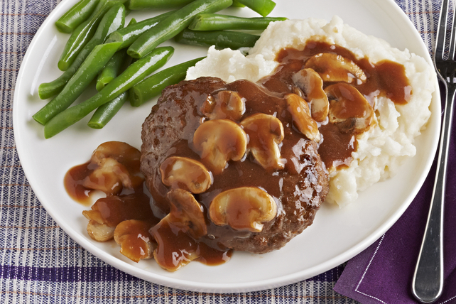 Garlic-Mushroom Salisbury Steak Image 1