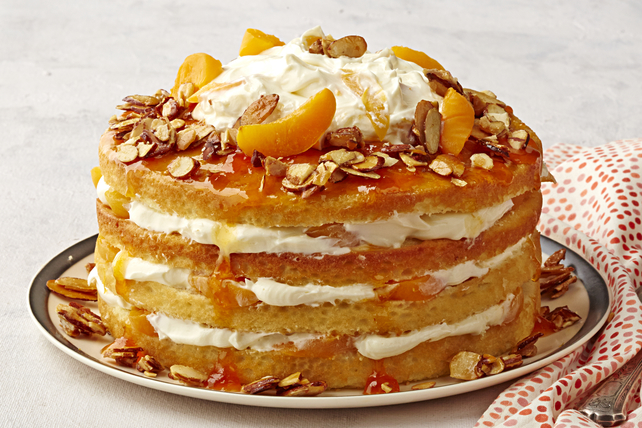 Apricot-Almond Cream Cake Image 1