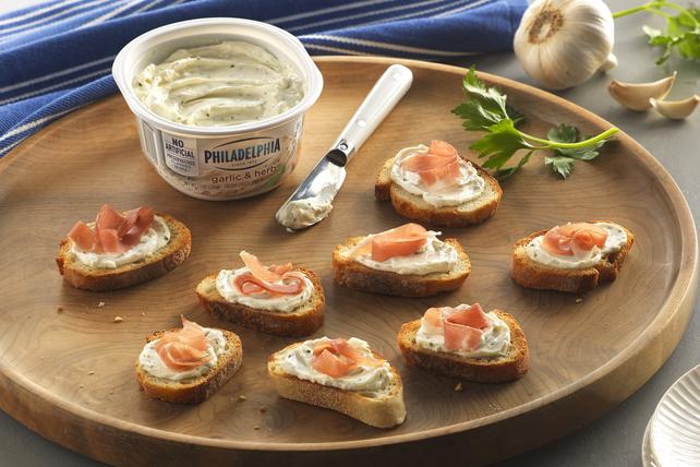 Garlic & Herb Prosciutto Crostini Image 1