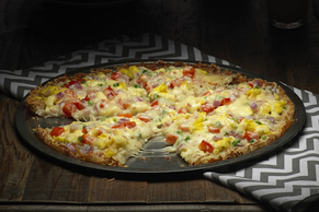 Morning Scramble Hash Brown Pizza