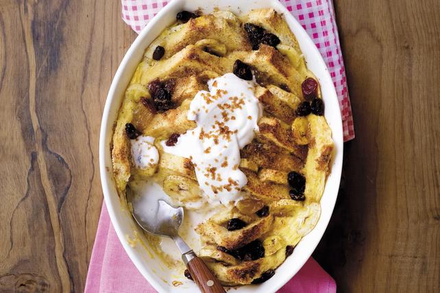 Pouding au pain à la banane et aux raisins secs Image 1