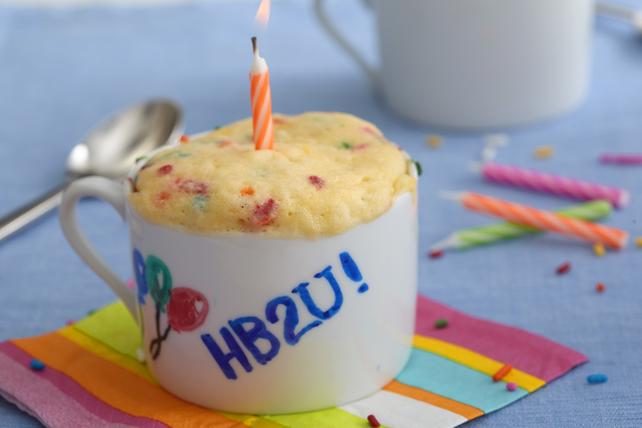 Birthday Cake Mug Cake Image 1