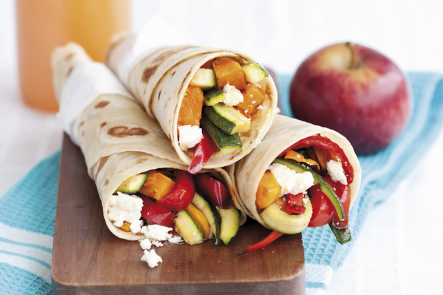 Vegetable and Feta Cheese Wraps Image 1
