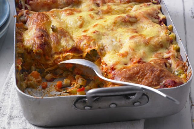 Beefed-Up Vegetable Lasagna Image 1