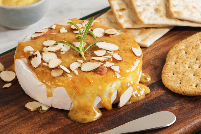 Mustard-Almond Baked Brie