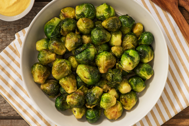 Maple and Dijon Glazed Brussels Sprouts Image 1