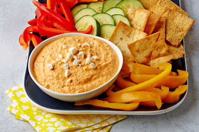 Spicy Feta Dip with Roasted Red Peppers Image 1