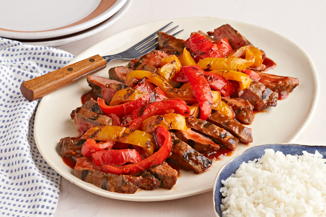 BBQ Grilled Pepper Steak for Two Image 1