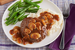 Garlic-Mushroom Salisbury Steak