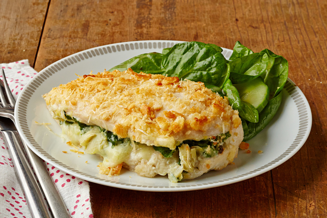 Spinach and Artichoke Stuffed Chicken Breasts Image 1