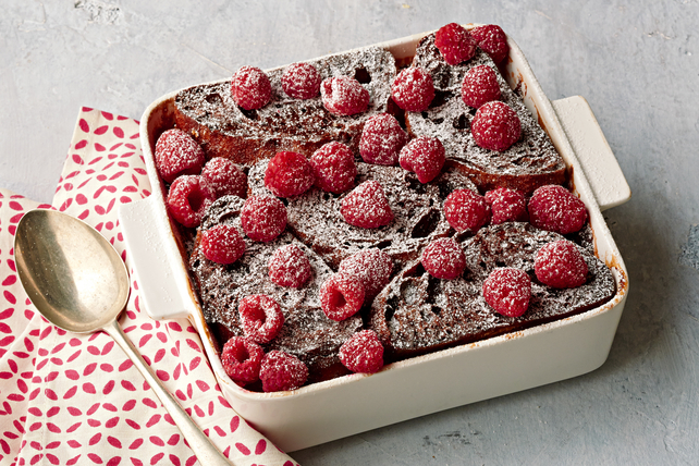Chocolate-Raspberry Stuffed French Toast Bake Image 1