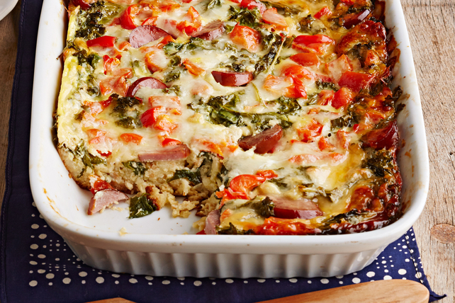 Kale and Turkey Sausage Egg Bake Image 1