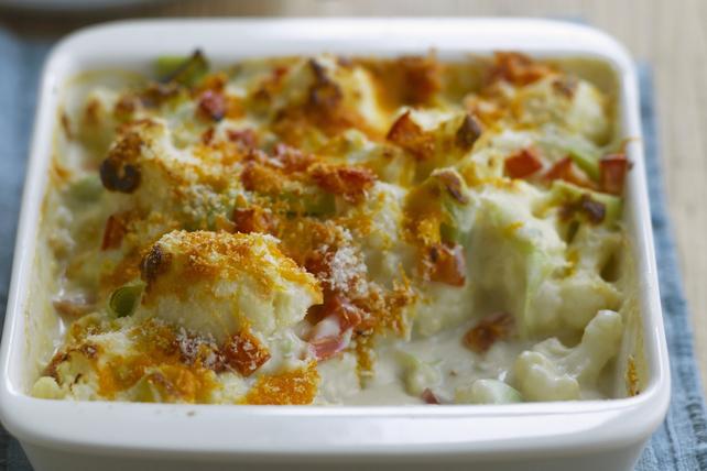 Casserole de chou-fleur au fromage et au bacon Image 1