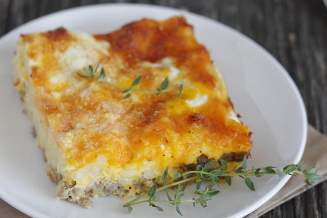 Casserole-déjeuner aux saucisses et au fromage Image 1
