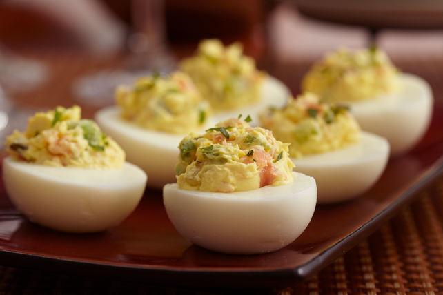 Smoked Salmon Devilled Eggs Image 1