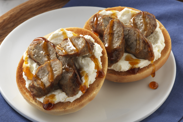 Sausage & Maple Bagel Image 1