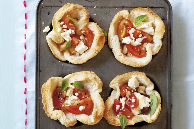Coupes de pain aux tomates et au fromage féta pour le brunch Image 1