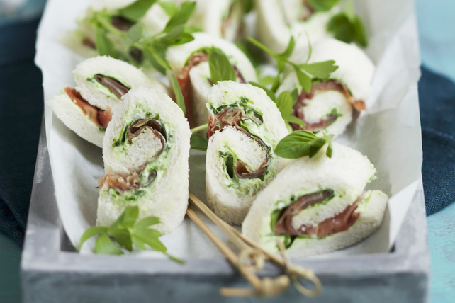 Prosciutto-and-Basil Sandwich Rolls Image 1