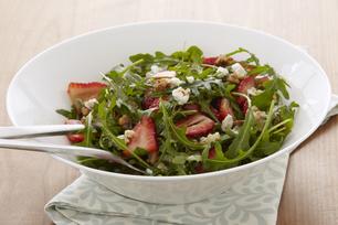 Salade de roquette aux fraises