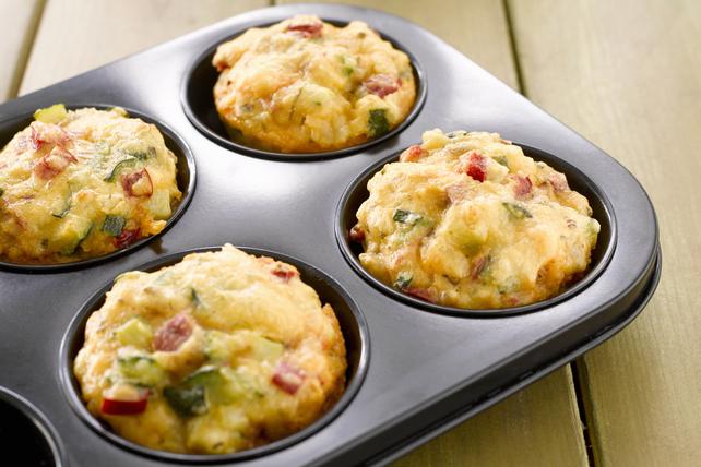Muffins-déjeuner au jambon, au fromage et aux oignons Image 1