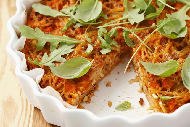 Tarte aux spaghettinis et aux tomates Image 1