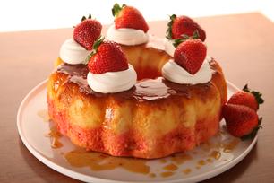 Strawberry Flan Cake